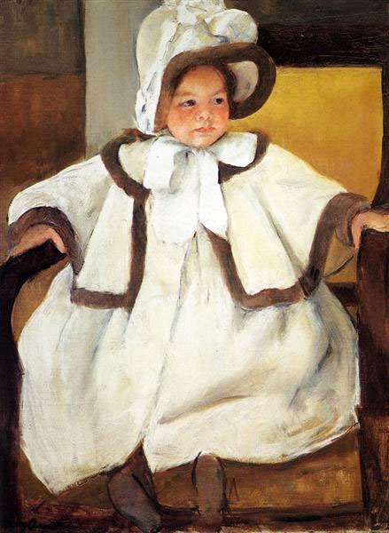 Ellen Marie Cassat In A White Coat – Mary Cassatt,  1896